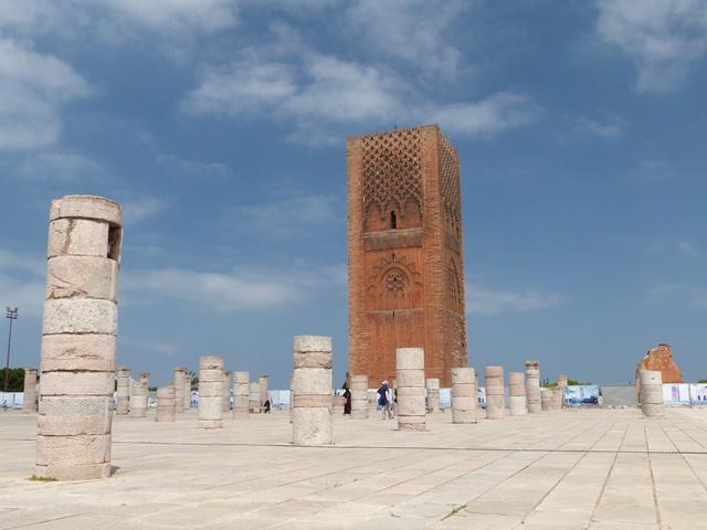 Der Hassanturm und die unvollendete Moschee in Rabat