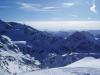 Panoramablick über die Alpen