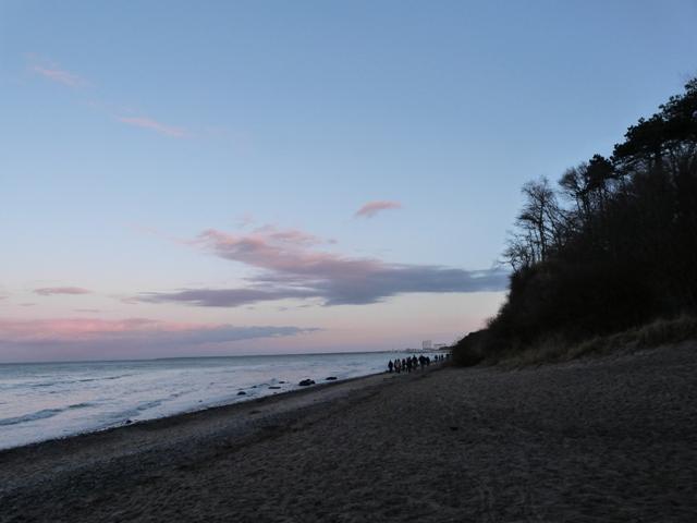 Silvester am strand michi bird for Warnemunde silvester